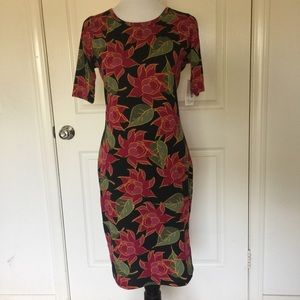 LuLaRoe Julia Dress Medium